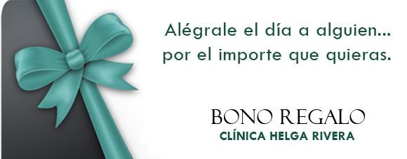 Haz un regalo especial a alguien a quien quieres. Bonos regalo de Medicina Estética Clínica Helga Rivera.